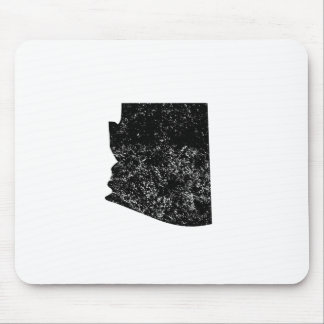 Distressed Arizona Silhouette Mousepads