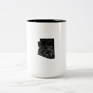 Distressed Arizona Silhouette Mugs