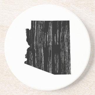 Distressed Arizona State Outline Coaster