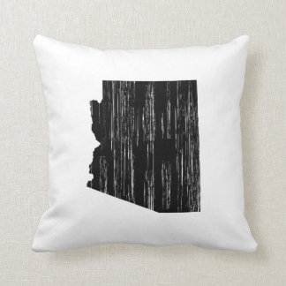 Distressed Arizona State Outline Cushion