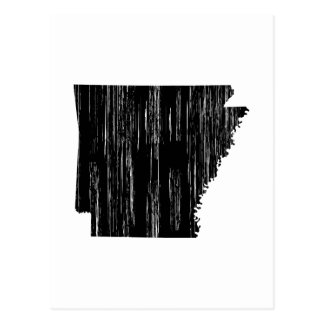 Distressed Arkansas State Outline Postcard