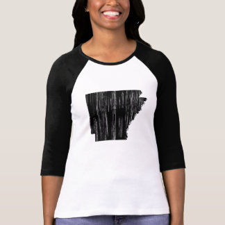 Distressed Arkansas State Outline T-Shirt
