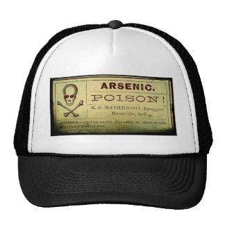 Distressed Arsenic Label Mesh Hat