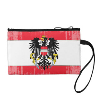 DISTRESSED AUSTRIA COAT OF ARMS FLAG .png Coin Purse