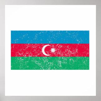 Distressed Azerbaijan Flag Posters
