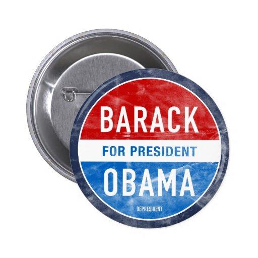Distressed Barack Obama Button