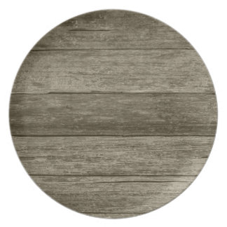 Distressed Barn Wood Dinner Plates