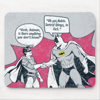 Distressed Batman And Robin Handshake Mouse Mat