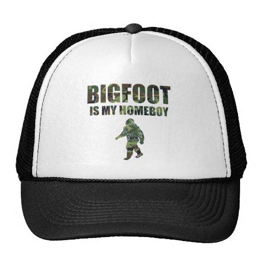 Distressed Bigfoot Is My Homeboy Camo Trucker Hat