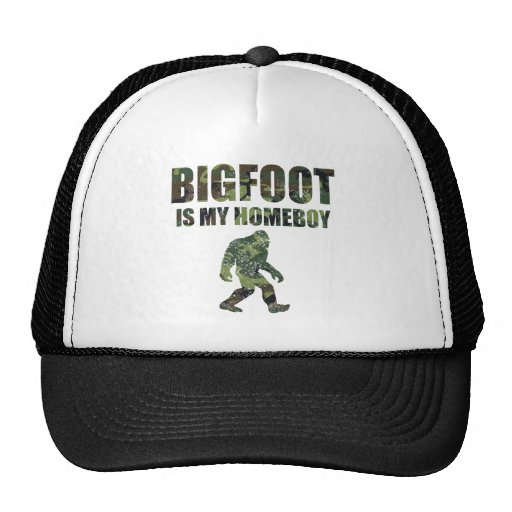 Distressed Bigfoot Is My Homeboy Camo Hat