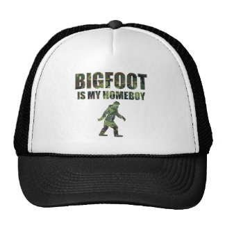 Distressed Bigfoot Is My Homeboy Camo Mesh Hats