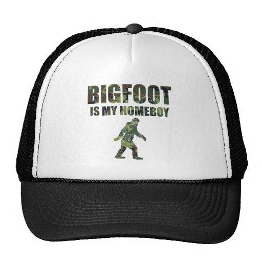 Distressed Bigfoot Is My Homeboy Camo Mesh Hats