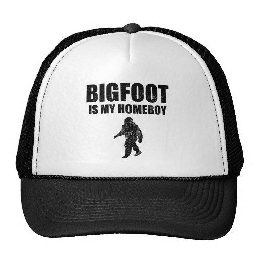 Distressed Bigfoot Is My Homeboy Trucker Hat