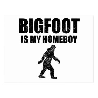 Distressed Bigfoot Is My Homeboy Postcards