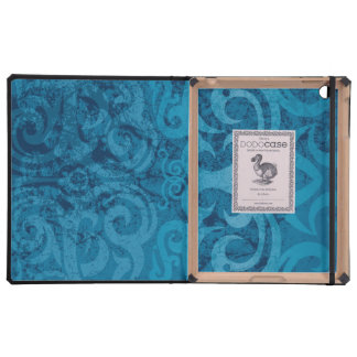Distressed Blue Damask iPad Cases