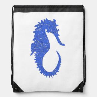 Distressed Blue Seahorse Rucksacks