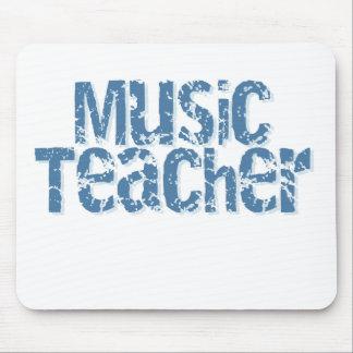 Distressed Blue Text Music Teacher Mouse Mats