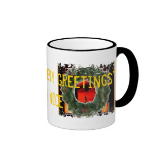 Distressed Border - 2-sided Ringer... - Customized Mugs