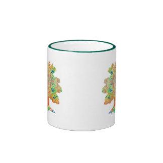 Distressed Border 2-sided Ringer Mug