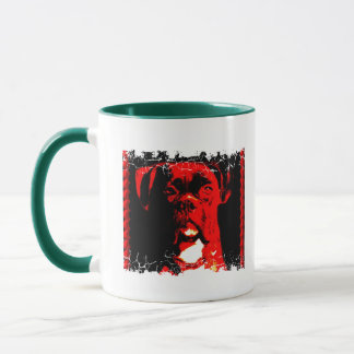 Distressed Border Boxer 2-sided Ringer Mug