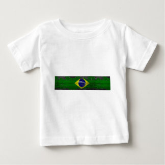 Distressed Brazil Flag Baby T-Shirt