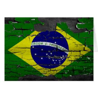 Distressed Brazil Flag Card