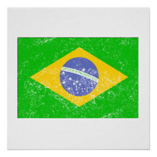 Distressed Brazil Flag Posters