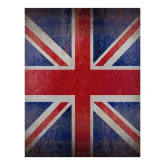 Distressed British Flag 21.5 Cm X 28 Cm Flyer
