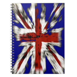 Distressed British Union Jack Spiral Notebook