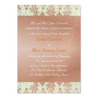 Distressed Brocade Wedding Invitation