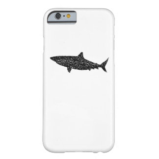 Distressed Bull Shark Silhouette Barely There iPhone 6 Case
