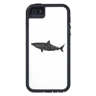 Distressed Bull Shark Silhouette iPhone 5 Cases