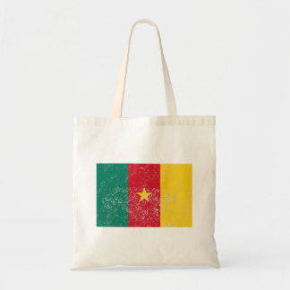 Distressed Cameroon Flag Tote Bag