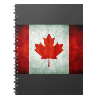 Distressed Canada Flag Spiral Notebook