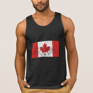 Distressed Canada Flag Tanktops