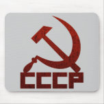 Distressed CCCP with Hammer & Sickle Mouse Mats