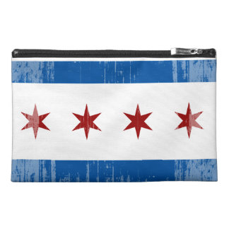 DISTRESSED CHICAGO FLAG png Travel Accessories Bag