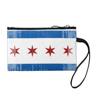 DISTRESSED CHICAGO FLAG .png Coin Wallets