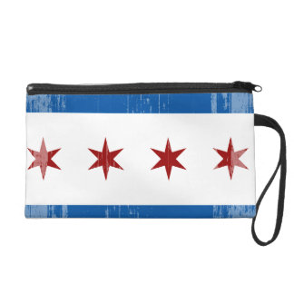 DISTRESSED CHICAGO FLAG .png Wristlet