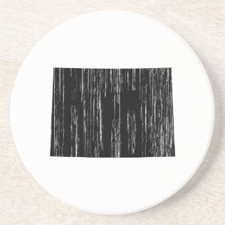 Distressed Colorado State Outline Coaster