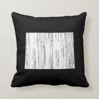 Distressed Colorado State Outline Cushion