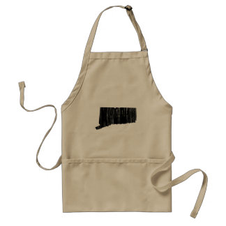 Distressed Connecticut State Outline Standard Apron