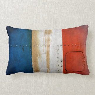 Distressed Country Flags | France Lumbar Cushion