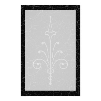Distressed Cracked Marble Gothic Stationery