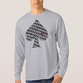 Distressed Cross Spade Long Sleeve Tshirt