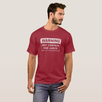 Distressed Dad Jokes Warning Label T-Shirt