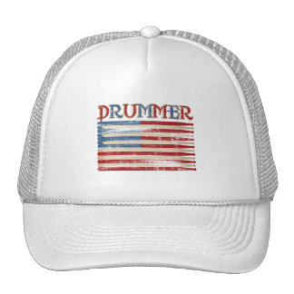 Distressed Drum Stick USA Flag Drummer Tees Gifts Cap