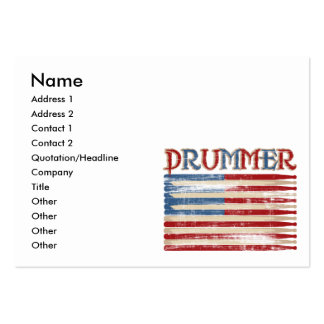 Distressed Drum Stick USA Flag Drummer Tees Gifts Pack Of Chubby Business Cards
