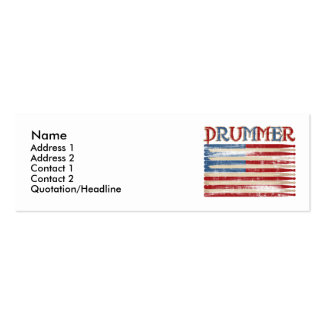 Distressed Drum Stick USA Flag Drummer Tees Gifts Pack Of Skinny Business Cards