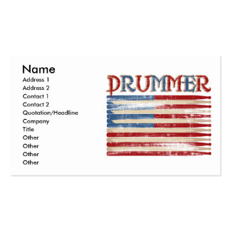 Distressed Drum Stick USA Flag Drummer Tees Gifts Pack Of Standard Business Cards